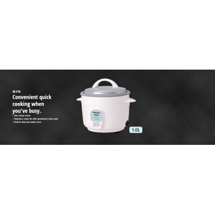Panasonic SR-E10A Conventional Rice Cooker - Silver Grey 1.0L (Original) 1 Years Warranty By Panasonic Malaysia