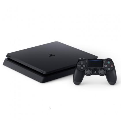 Sony PS4 CUH-2218A/B PlayStation 4 Slim Console  Player 8GB RAM 500GB Black Colour (Original) 1 Year Warranty By Sony Malaysia