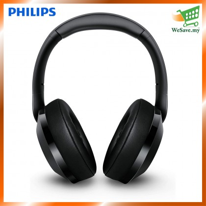 Philips TAPH802 / TAPH802BK/00 Noise Isolation Stereo with Hi-Res Audio Wireless Bluetooth Headphones Black Colour (Original) 1 Year Warranty by Philips Malaysia