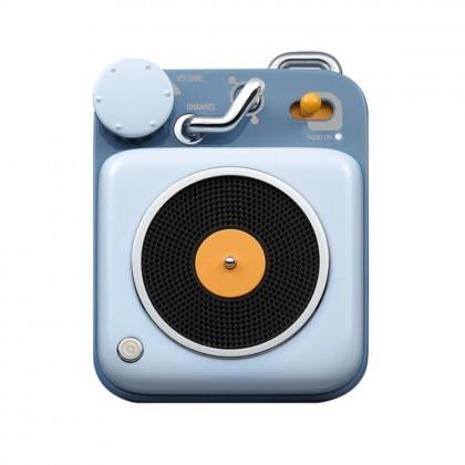 Muzen Button Mini Portable Wireless Bluetooth Speaker Berry Blue Colour (Original) 1 Year Warranty by Local Manufacturer