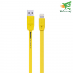 Remax Full Speed Lightning Cable (100cm) For iOS Yellow Colour (Original)