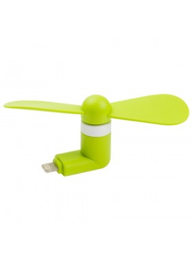 Portable Mini Fan For iPhone Smartphone / Devices Green Colour (Original)