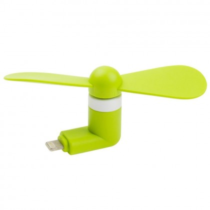 Portable Mini Fan For iPhone Smartphone / Devices Green Colour