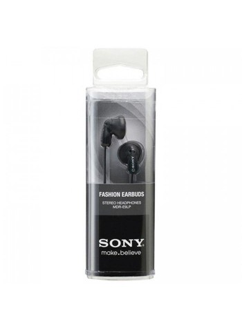 Sony MDR-E9LP/B Stereo Earphone MDR-E9LP (Original) by Sony Malaysia - Black Colour