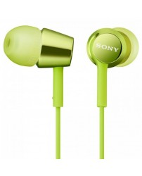 Sony MDR-EX150/G In-Ear Headphones MDR-EX150 (Original) 1 Year Warranty By Sony Malaysia - Lime Green Colour