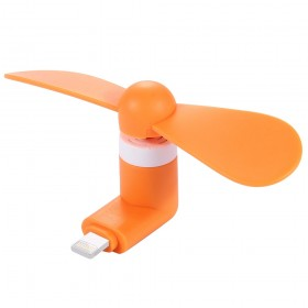 Portable Mini Fan For iPhone Smartphone / Devices Orange Colour (Original)