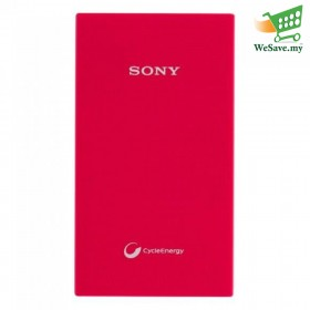 Sony 5000mAh Power Bank CP-V5A Portable USB Charger Red Colour (Original)
