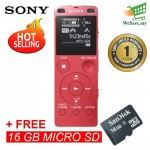 Sony ICD-UX560F Pink Digital IC Voice Recorder with Built-in USB ICD-UX560F/P (Original) from Sony Malaysia + 16GB MSD