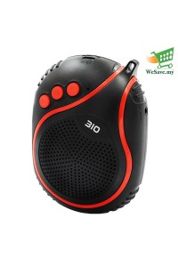 NBY-310 Wireless Bluetooth Speaker with Microphone Red Colour