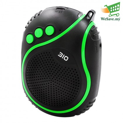 NBY-310 Wireless Bluetooth Speaker with Microphone Green Colour