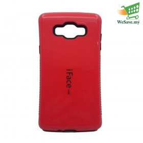 iFace Mall Samsung Galaxy A7 Hard Case Red Colour